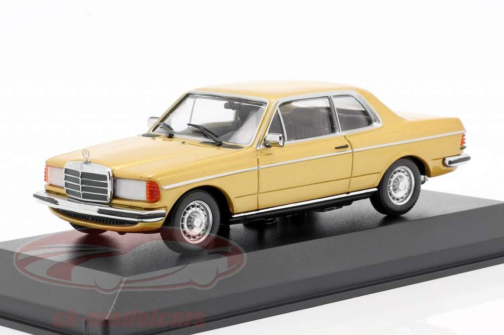 Mercedes-Benz 230CE (W123) Opførselsår 1976 guld metallisk 1:43 Minichamps
