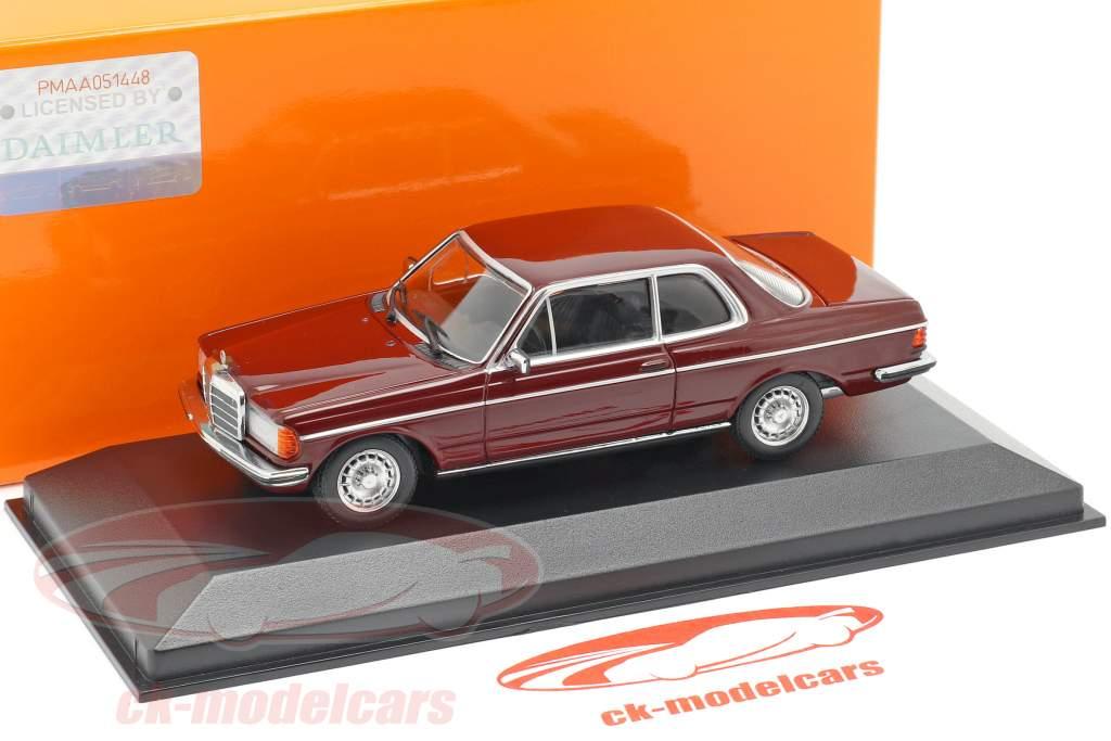 Mercedes-Benz 230CE (W123) año de construcción 1976 oscuro rojo 1:43 Minichamps