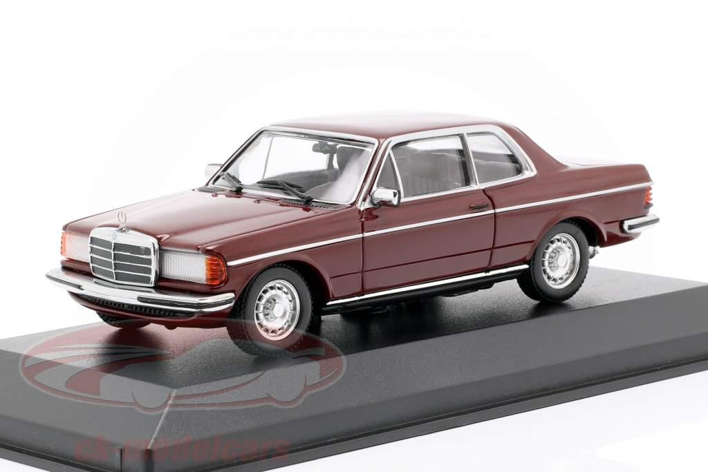 Mercedes-Benz 230CE (W123) Opførselsår 1976 mørk rød 1:43 Minichamps