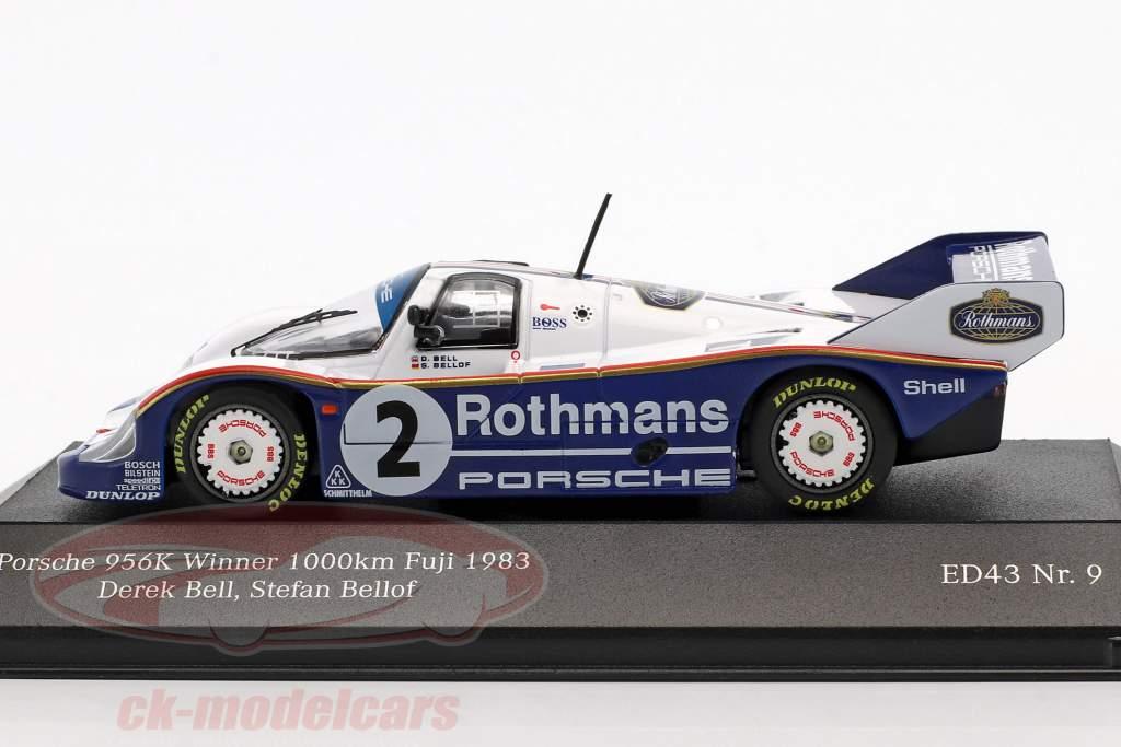 Porsche 956 K #2 winnaar 1000km Fuji 1983 Bellof, Bell 1:43 CMR