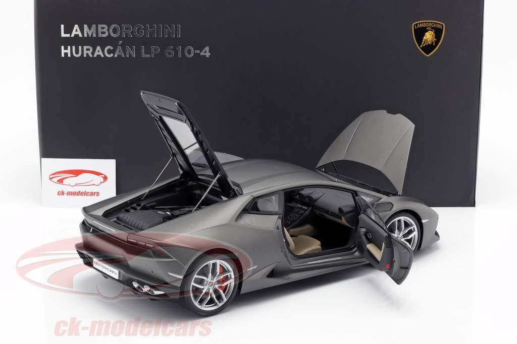 Lamborghini Huracan LP610-4 An 2014 titane mat gris 1:12 AUTOart