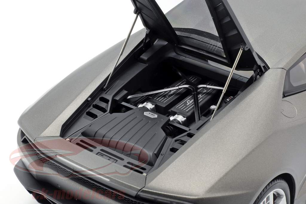 Lamborghini Huracan LP610-4 Ano 2014 titânio matt cinzento 1:12 AUTOart