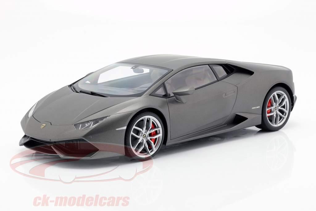 Lamborghini Huracan LP610-4 Jaar 2014 titanium mat grijs 1:12 AUTOart
