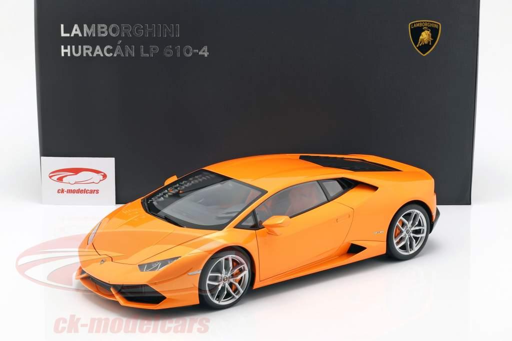 Lamborghini Huracan LP610-4 år 2014 borealis appelsin 1:12 AUTOart
