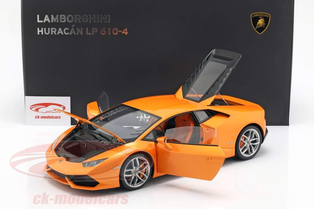 Lamborghini Huracan LP610-4 Year 2014 borealis orange 1:12 AUTOart