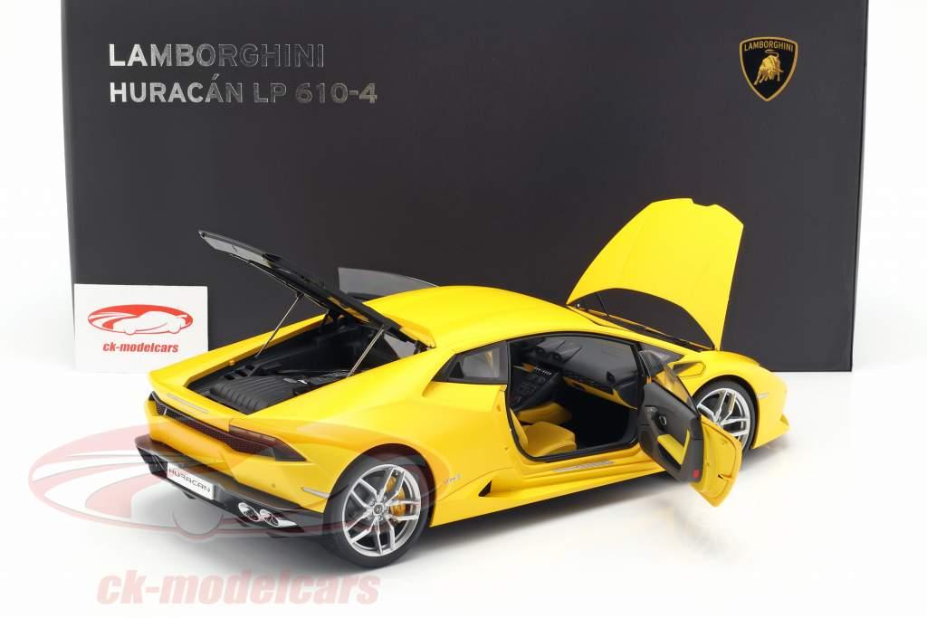 Lamborghini Huracan LP 610-4 año 2014 amarillo 1:12 AUTOart