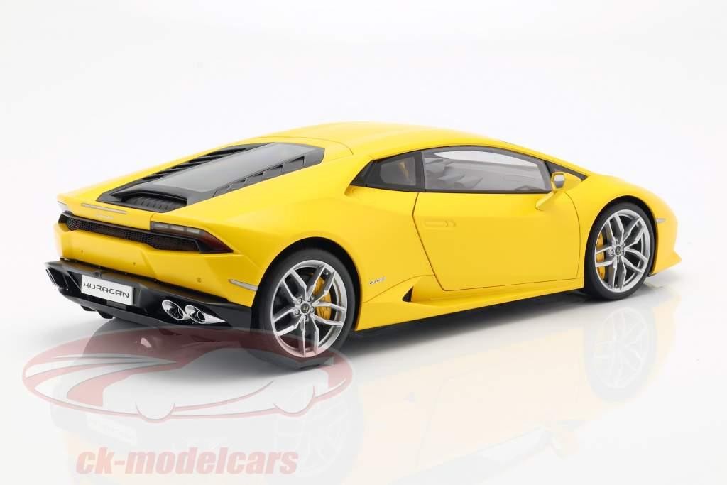 Lamborghini Huracan LP 610-4 år 2014 gul 1:12 AUTOart