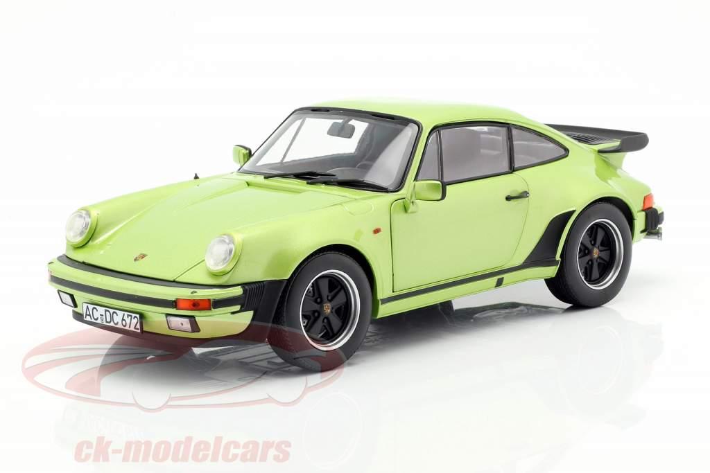 Porsche 911 Turbo 3.3 year 1978 silver green metallic 1:18 Norev