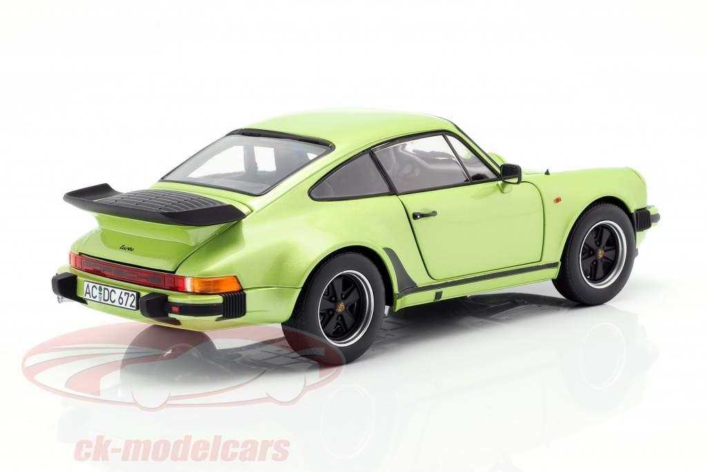 Porsche 911 Turbo 3.3 Opførselsår 1978 sølv grøn metallisk 1:18 Norev