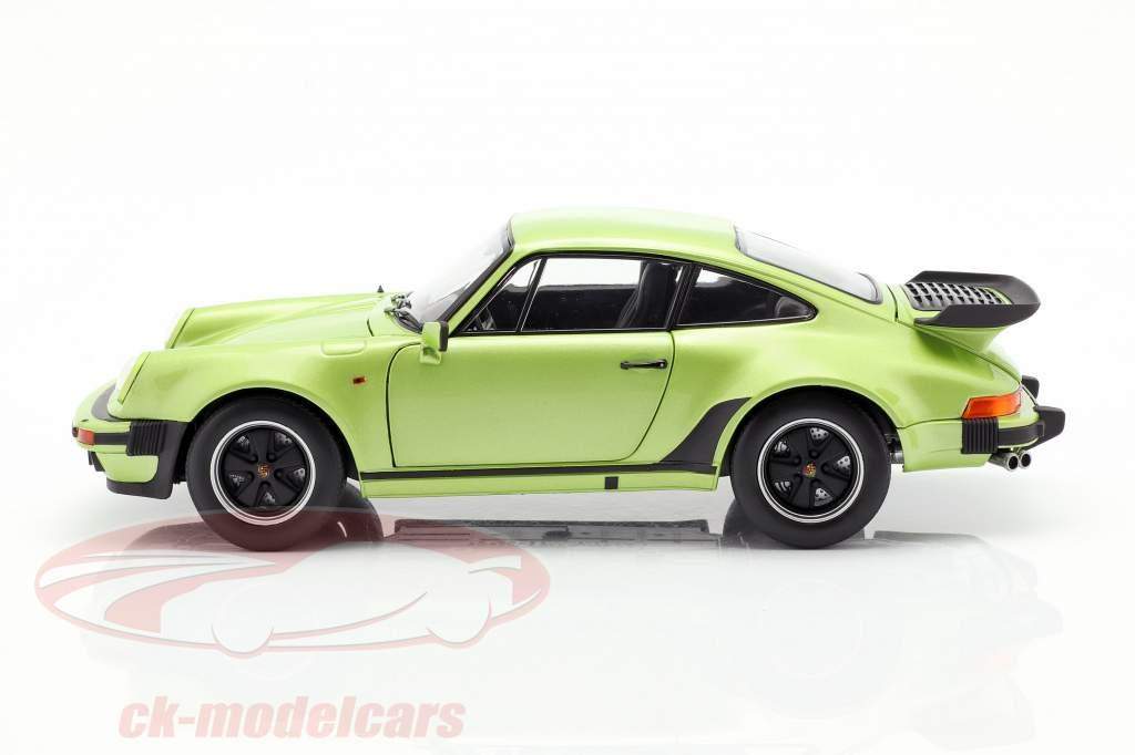 Porsche 911 Turbo 3.3 ano de construção 1978 verde de prata metálico 1:18 Norev
