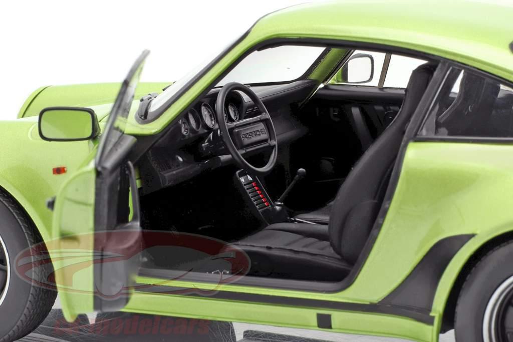 Porsche 911 Turbo 3.3 año de construcción 1978 verde plata metálico 1:18 Norev