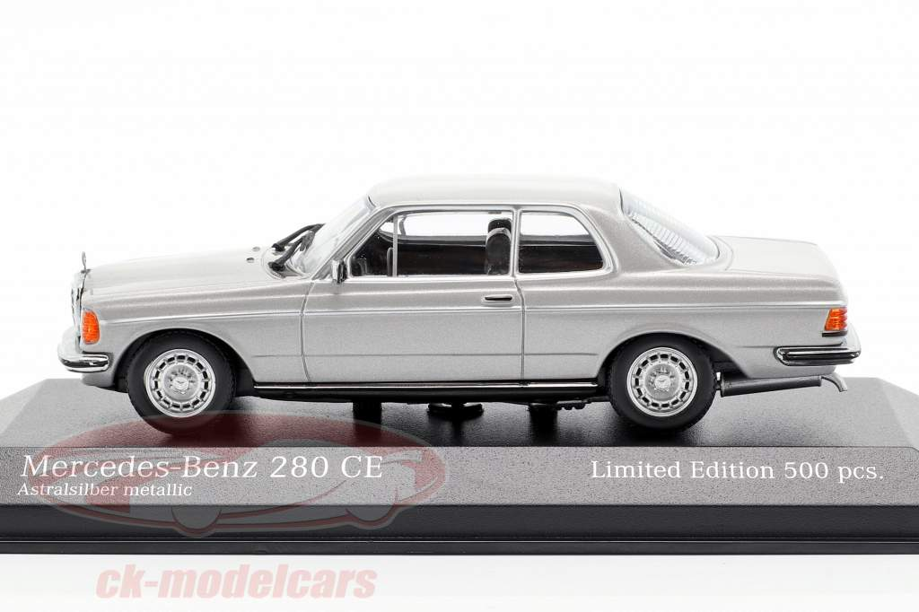 Mercedes-Benz 280 CE (W123) année de construction 1976 argent astral métallique 1:43 Minichamps