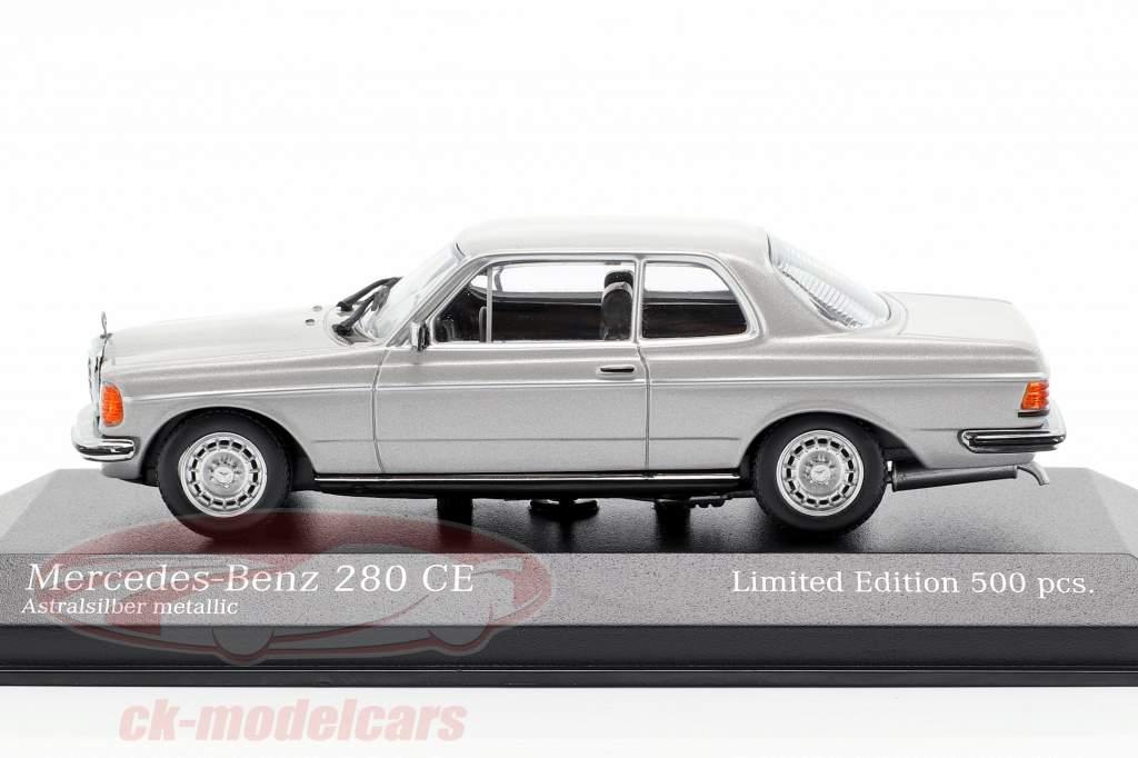 Mercedes-Benz 280 CE (W123) Opførselsår 1976 astrale sølv metallisk 1:43 Minichamps