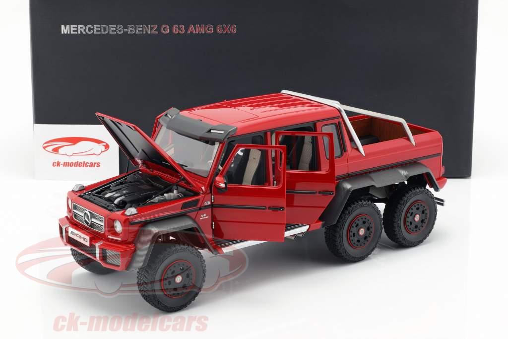 Autoart 1 18 Mercedes Benz G63 Amg 6x6 Ano 2013 Vermelho 76304 Modelo Carro 76304 674110763041