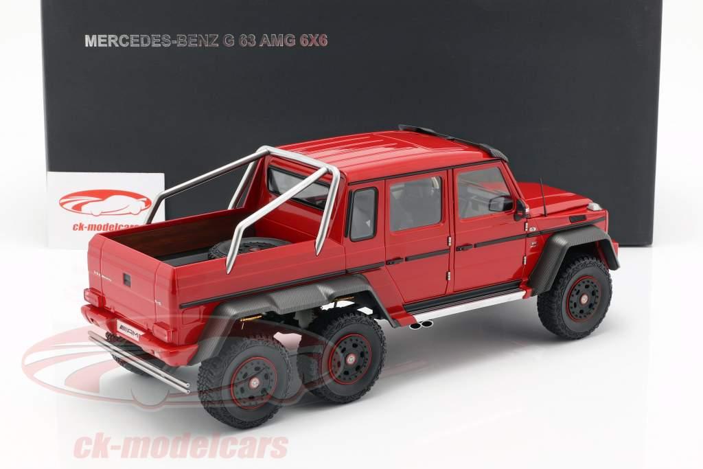 Mercedes-Benz G63 AMG 6x6 år 2013 rød 1:18 AUTOart