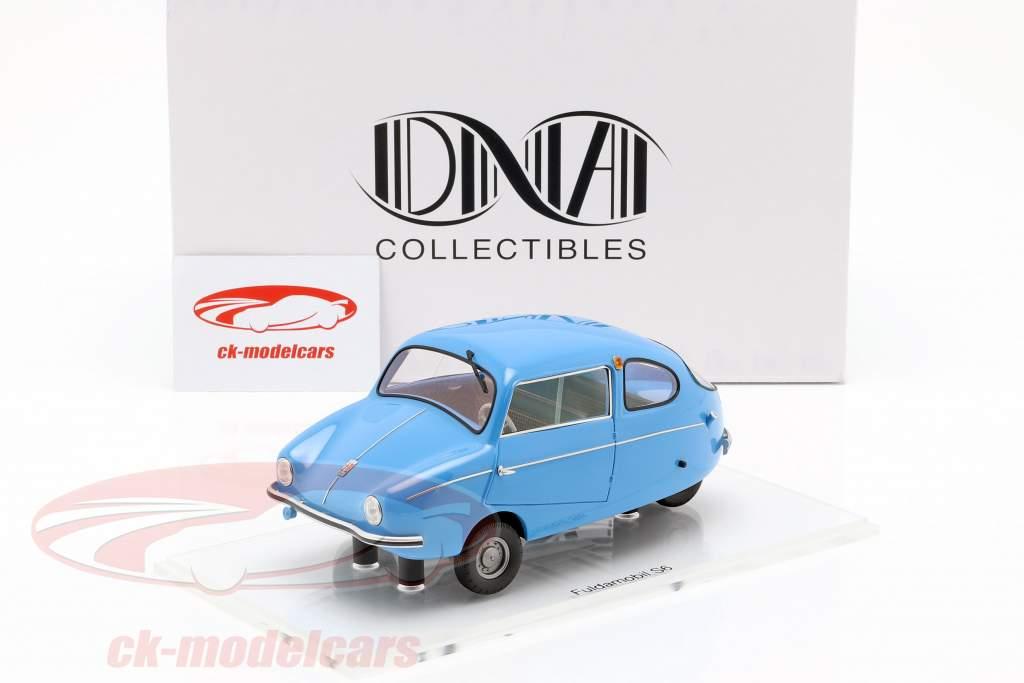 Fuldamobil S6 Bouwjaar 1956 blauw 1:18 DNA Collectibles