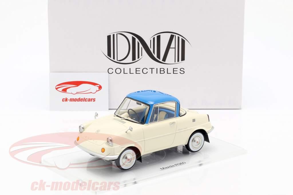 Mazda R360 ano de construção 1960 creme branco / azul 1:18 DNA Collectibles