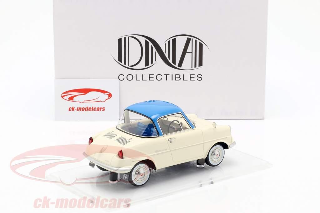 Mazda R360 year 1960 cream white / blue 1:18 DNA Collectibles