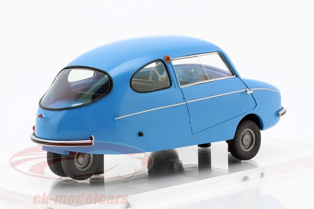 Fuldamobil S6 ano de construção 1956 azul 1:18 DNA Collectibles