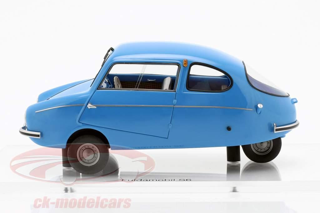 Fuldamobil S6 anno di costruzione 1956 blu 1:18 DNA Collectibles