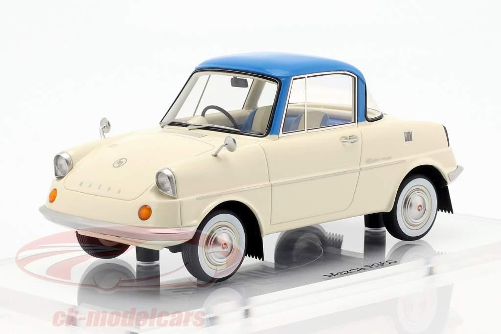 Mazda R360 año de construcción 1960 crema blanco / azul 1:18 DNA Collectibles
