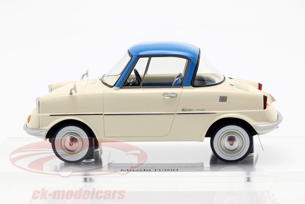 Mazda R360 Bouwjaar 1960 crème wit / blauw 1:18 DNA Collectibles