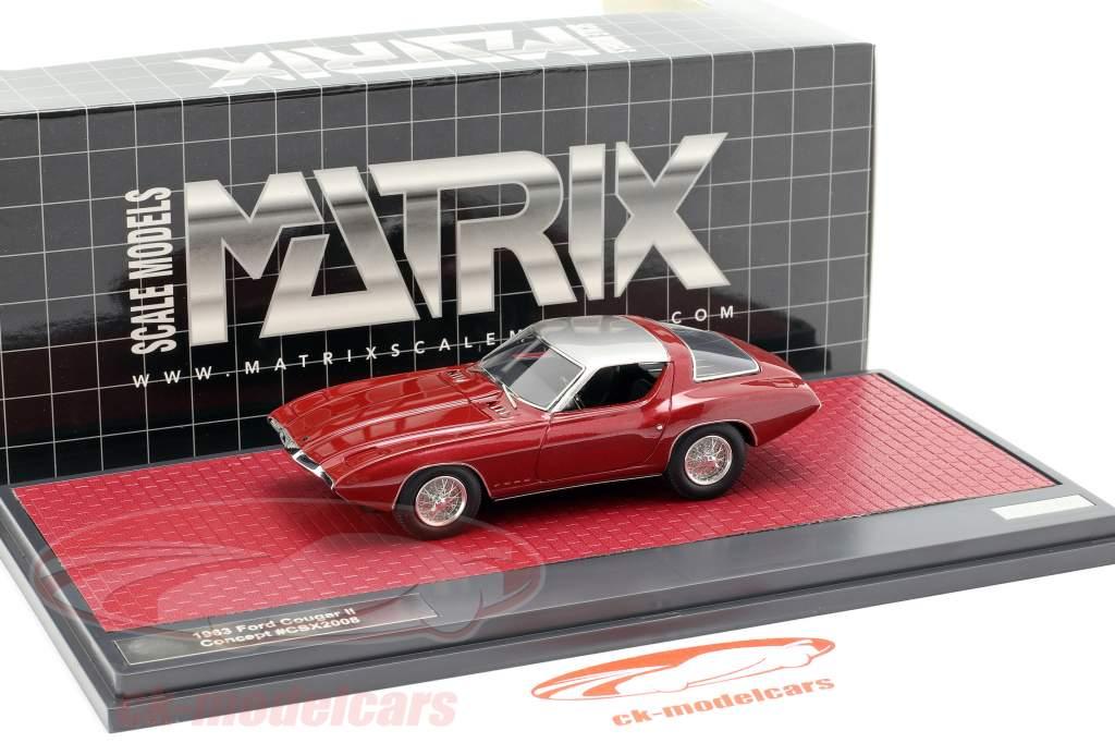 Ford Cougar II Concept Car ano de construção 1963 roxo / prata 1:43 Matrix