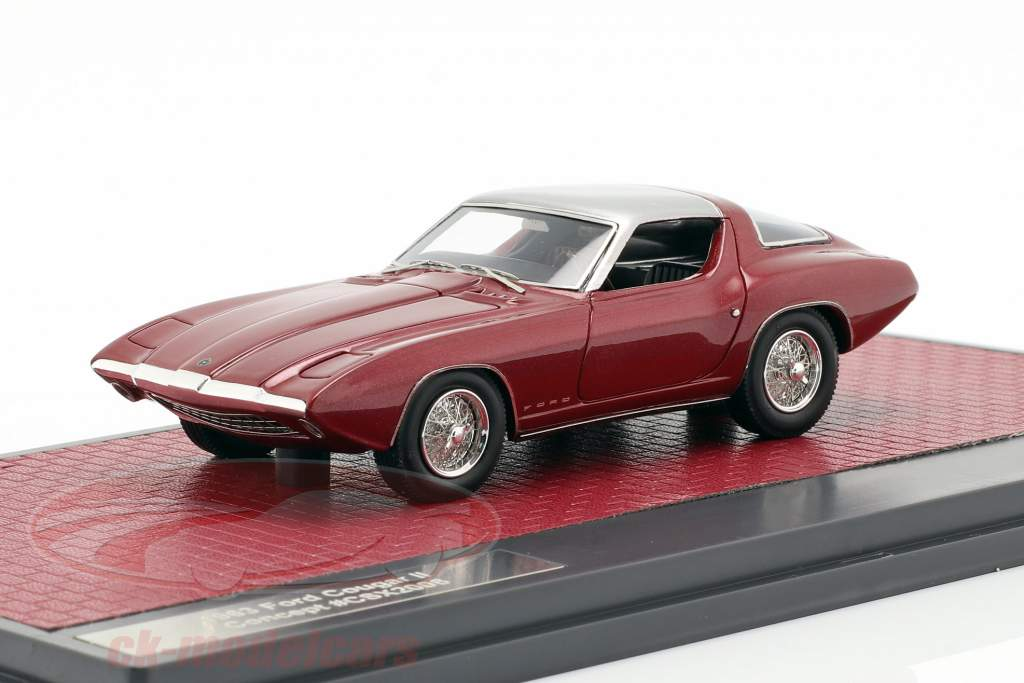 Ford Cougar II Concept Car année de construction 1963 pourpre / argent 1:43 Matrix