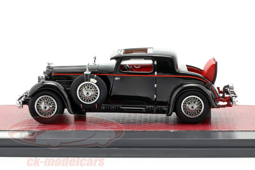 Stutz Model M Supercharged Lancefield Coupe Open anno di costruzione 1930 nero 1:43 Matrix