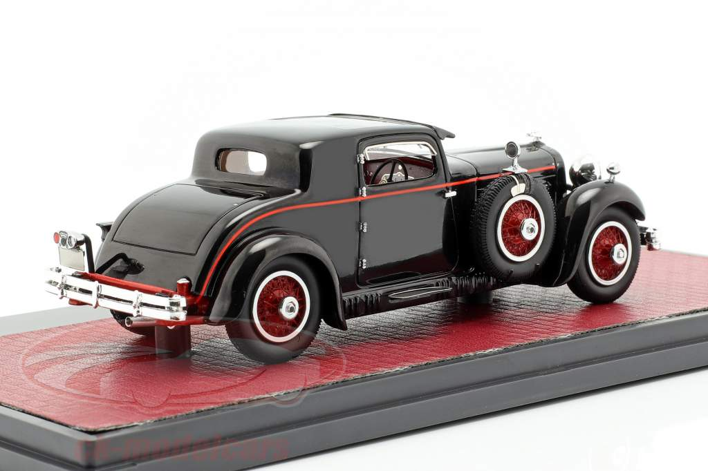 Stutz Model M Supercharged Lancefield Coupe Closed Bouwjaar 1930 zwart 1:43 Matrix