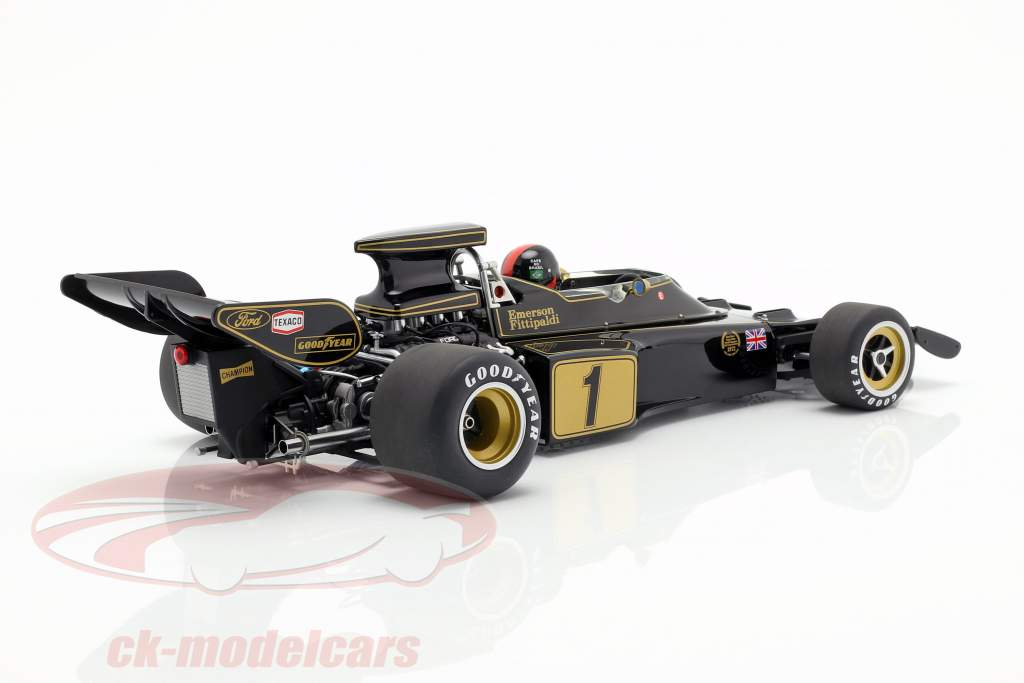 Emerson Fittipaldi Lotus 72E #1 formula 1 1973 con autista cifra 1:18 AUTOart