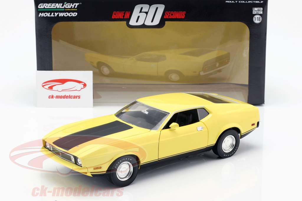 Ford Mustang Mach 1 Eleanor película Gone in 60 Seconds 1974 amarillo 1:18 Greenlight