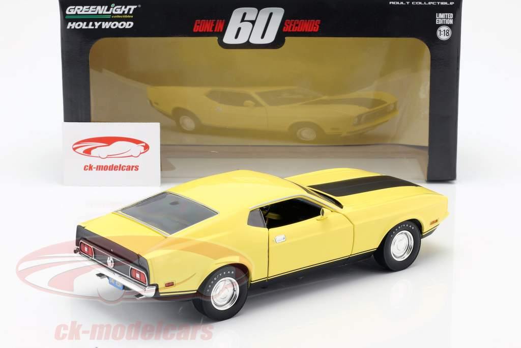 Ford Mustang Mach 1 Eleanor film Gone in 60 Seconds 1974 giallo 1:18 Greenlight