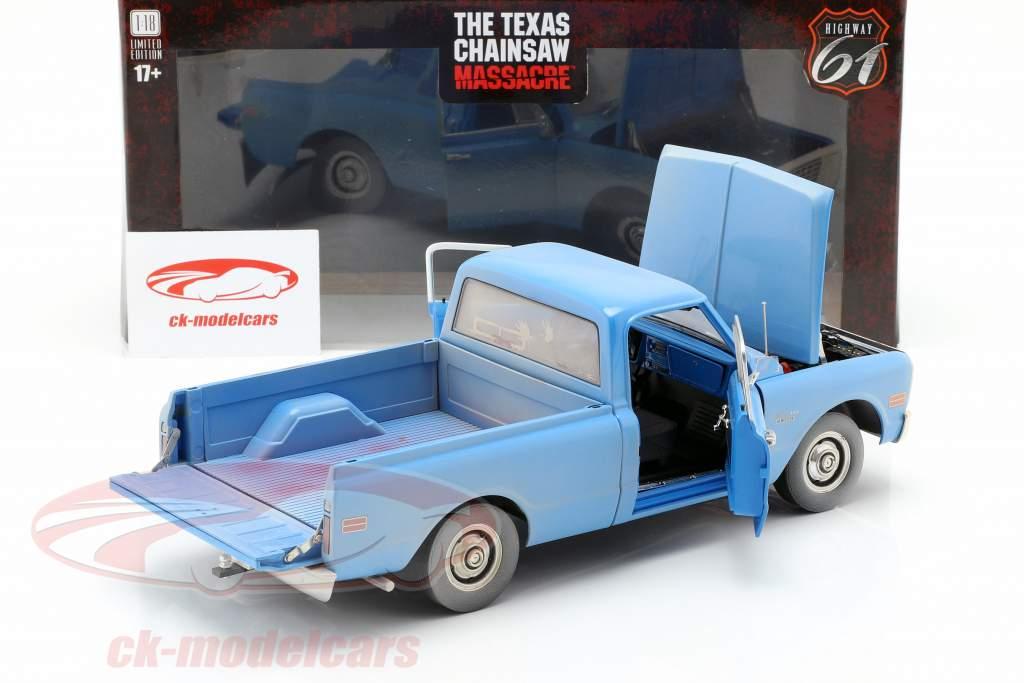 Chevrolet C-10 film The Texas Chainsaw Massacre 1974 blå 1:18 Greenlight