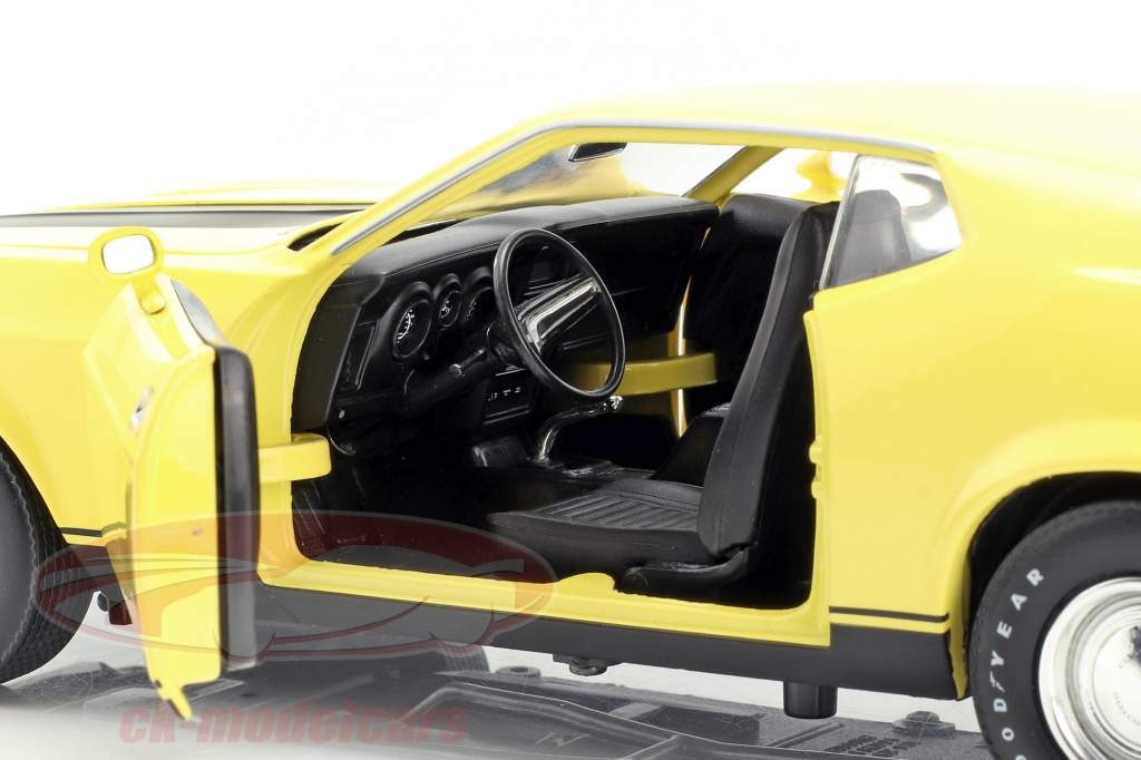 Ford Mustang Mach 1 Eleanor filme Gone in 60 Seconds 1974 amarelo 1:18 Greenlight