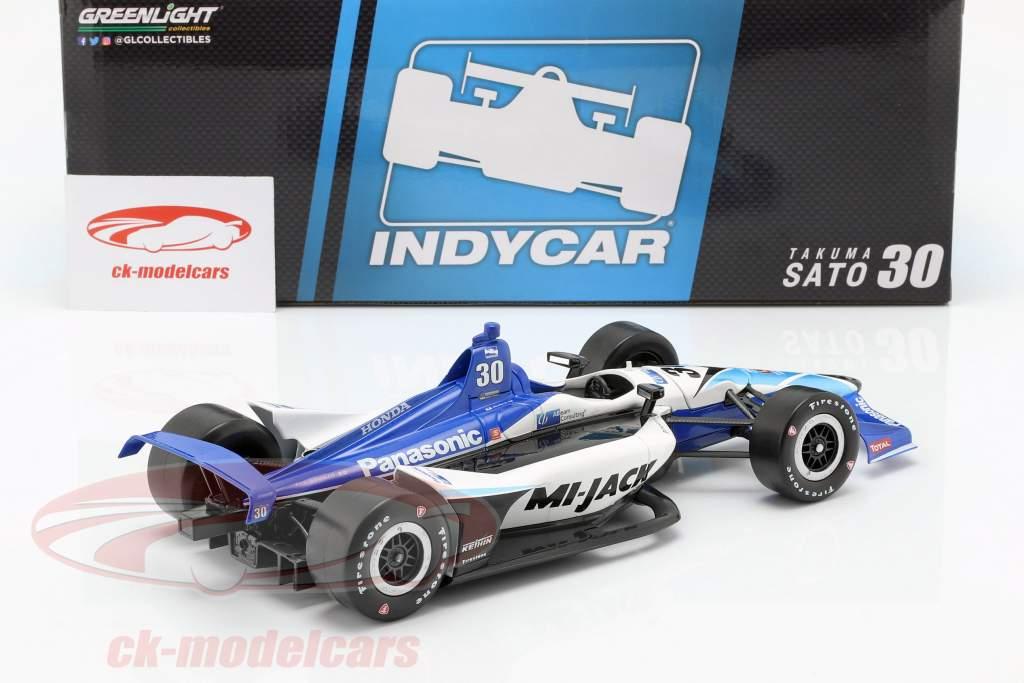 Takuma Sato Honda #30 IndyCar Series 2019 Rahal Letterman Lanigan Racing 1:18 Greenlight
