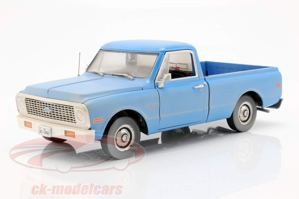 Chevrolet C-10 película The Texas Chainsaw Massacre 1974 azul 1:18 Greenlight
