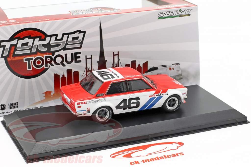 Bre Datsun 510 #46 Brock Racing Enterprises Tokyo Torque 1:43 Greenlight