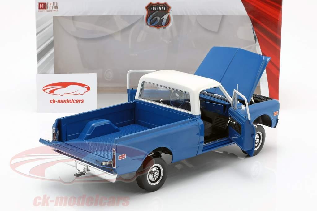 Chevrolet C-10 com Kit elevador ano de construção 1970 azul / branco 1:18 Greenlight