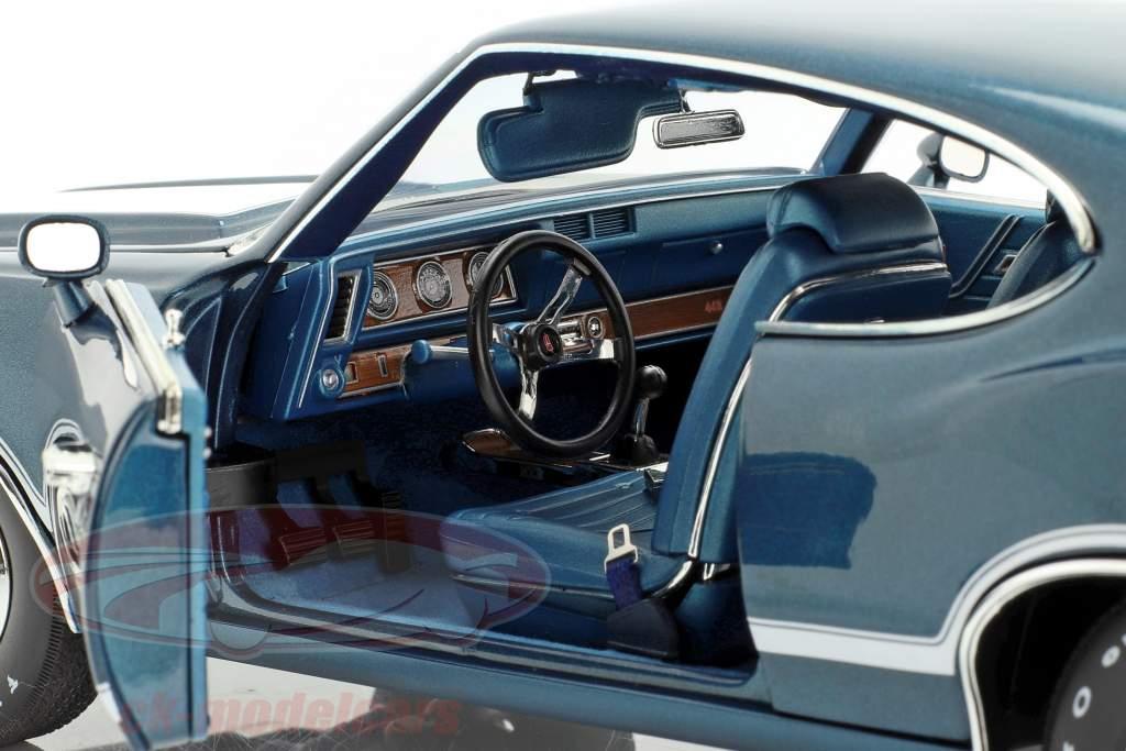 Oldsmobile 442 W-30 ano de construção 1970 azul / branco 1:18 GMP