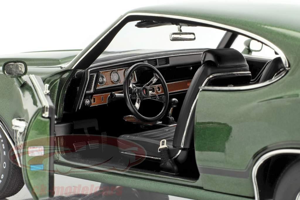 Oldsmobile 442 W-30 année de construction 1970 vert / noir 1:18 GMP
