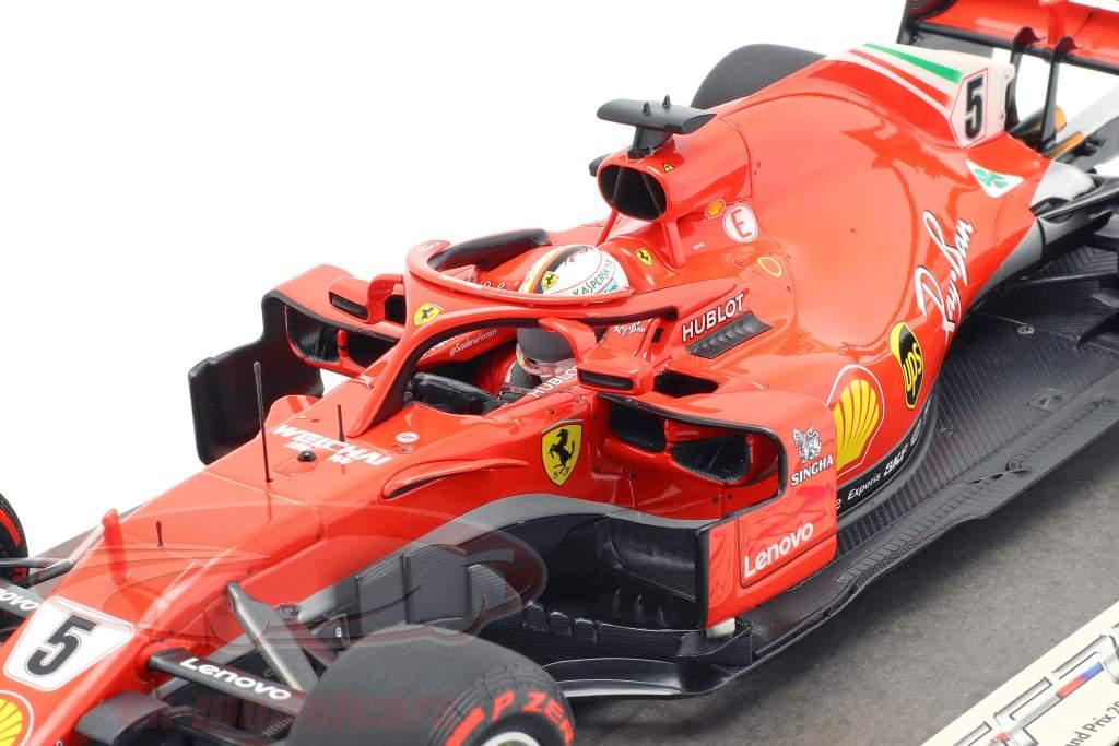 S. Vettel Ferrari SF71H #5 50e GP victoire gagnant Canada GP formule 1 2018 1:18 BBR