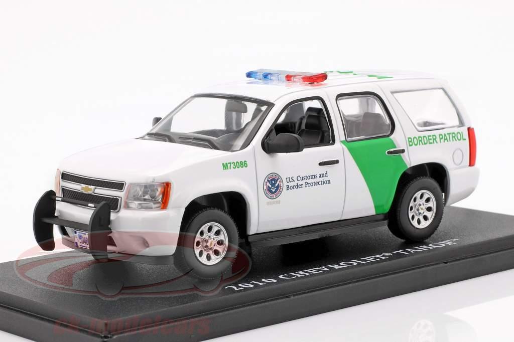 Chevrolet Tahoe frontière patrouille année de construction 2010 blanc / vert 1:43 Greenlight