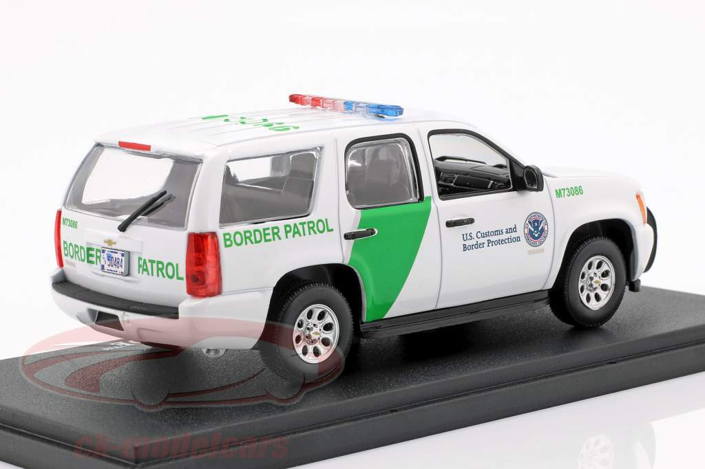 Chevrolet Tahoe Border Patrol Opførselsår 2010 hvid / grøn 1:43 Greenlight