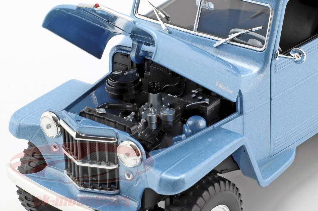 Willys Jeep Station Wagon Bouwjaar 1978 silberblau / wit 1:18 Lucky DieCast