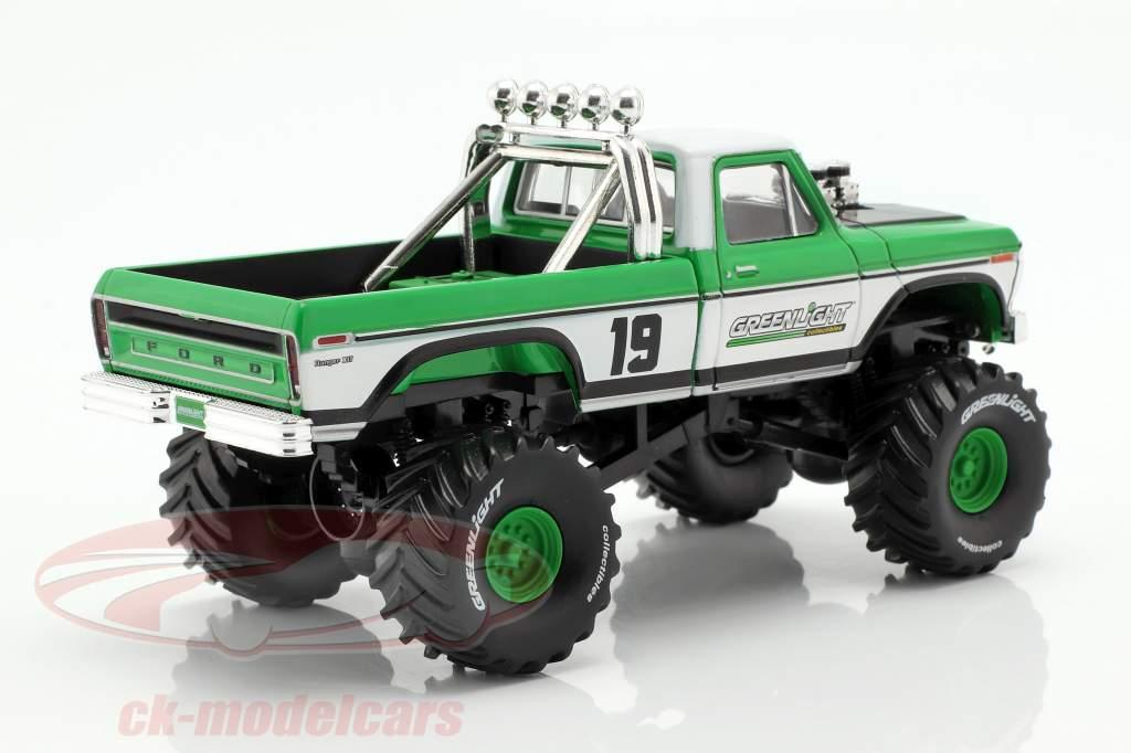 Ford F-250 Monster Truck ano de construção 1974 verde / branco 1:43 Greenlight