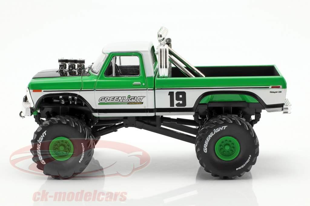 Ford F-250 Monster Truck anno di costruzione 1974 verde / bianco 1:43 Greenlight