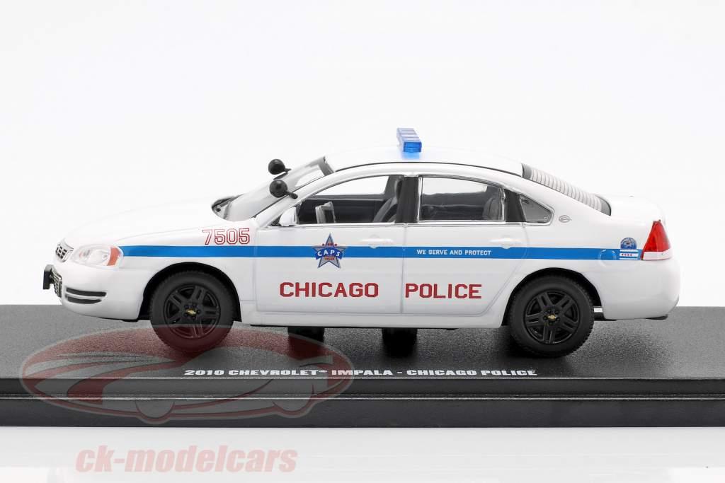 Chevrolet Impala Chicago Police Baujahr 2010 weiß 1:43 Greenlight