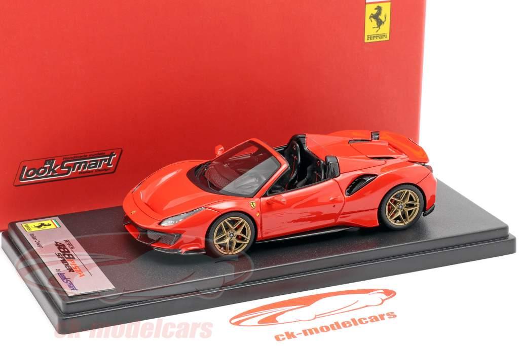 Ferrari 488 Pista Spyder Opførselsår 2018 rød 1:43 LookSmart