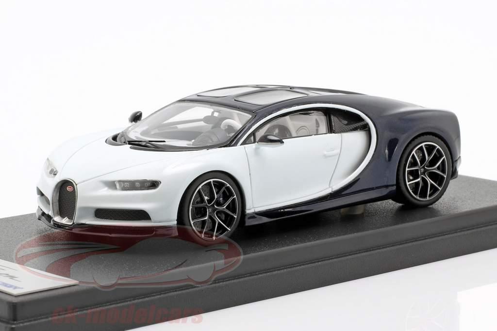 Bugatti Chiron Skyview blanco / azul oscuro metálico 1:43 LookSmart